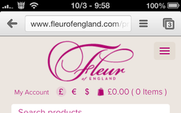Fleur of England - Product page (mobile)